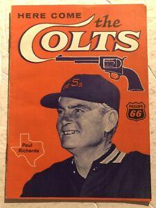 1962 HOUSTON COLT 45s PAUL RICHARDS Program Newest Team HERE COME THE COLTS