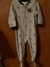 Boy 24 Months Carter's Fleece Footed Sleepers Pajama 24 Month