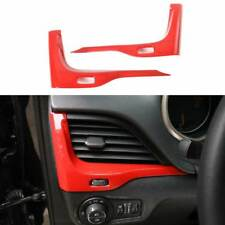 Fit 2014-2018 Jeep Cherokee ABS Car Inner Dashboard Air Condition Vents Trim-Red