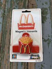 Vintage Rare McDonalds Magnet 51612 French Fries New In Package McDonalds Fridge