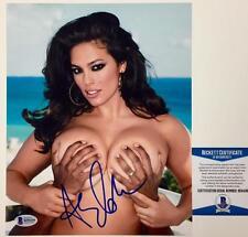 Sports Illustrated SI Model ASHLEY GRAHAM Signed 8x10 Photo BAS Beckett COA (c)