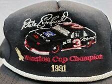 VINTAGE DALE EARNHARDT 1991 WINSTON CUP CHAMPION HAT CAP TRUCKER STYLE SNAPBACK