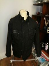 "Black waxed Barbour Jacket Sixe L (44"" Chest)"