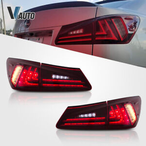 VLAND LED Red Tail Lights Conversions Fit For Lexus IS250 IS350 ISF 2006-2012