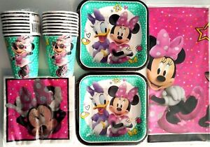 MINNIE MOUSE Happy Helpers Disney Birthday Party Supply Kit Pack For 16