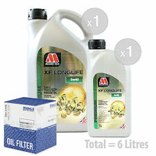 Engine Oil and Filter Service Kit 6 LITRES Millers Oils XF LONGLIFE 5w-40 6L