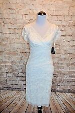 Modcloth Decadent Dining Short light ivory NWT 6 fits 4 knit bridal sheath sheen