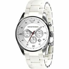 Emporio Armani AR5859 White Mens Chronograph Watch 2 Years