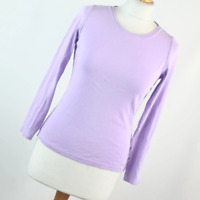 Marks & Spencer Womens Size 10 Purple Plain Cotton Basic Tee
