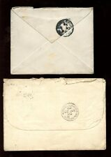 RAILWAY GB QV 1888-98 GLASGOW SORTING TENDER CDS on ENVELOPES...2 ITEMS