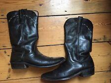Vintage men's black Laredo cowboy boots (size 8D USA)