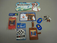 New Boxer Dog 6 Piece Lot  Wall Sign Car Magnet Phone Case Key Chain More #24