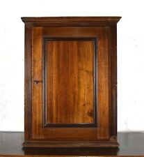 Antique inlaid mahogany wall hanging cupboard - cabinet