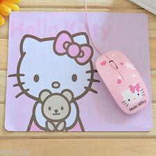 Hello Kitty Pink Bear Laptop PC Mouse Soft Mat Pad K577