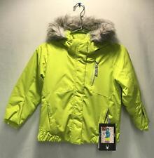 Spyder Girls Kids Bitsy Lola Snow Ski Winter Jacket Sharp Lime Size 5 NEW