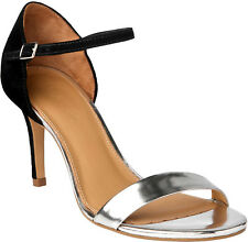 Phase Eight Selina Ladies Black Silver Selina Sandals Boxed - Size 4 / 37