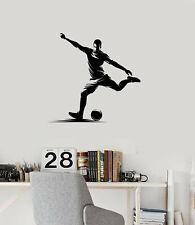 Vinyl Wall Decal Soccer Player Ball Sports Boys Room Decor Art Stickers (ig5640)