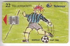 EUROPE  TELECARTE / PHONECARD .. NORVEGE  22KR FOOTBALL SOCCER 06/97 CHIP/PUCE