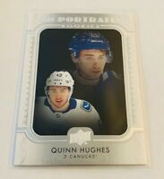 B1,913 - 2019-20 Upper Deck UD Portraits #P45 Quinn Hughes Rookie Canucks
