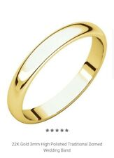 Band Ring, 2-4 Gms (Any Size) 24K Solid Yellow Gold Classic Wedding
