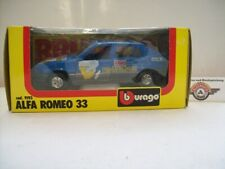 """Alfa Romeo 33 #1 """"transafricana"""" 1984, Blue, Bburago 1:24 (Made in Italy), OVP"""
