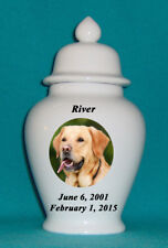 """12"""" Photo Picture Pet Dog Cat Cremation Memorial Urn Personalized"""