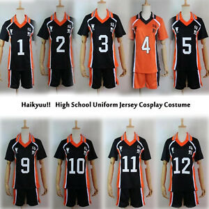 Haikyu!! Karasuno Shyouyou High School Uniform Jersey Cosplay Costume Shirt XXL