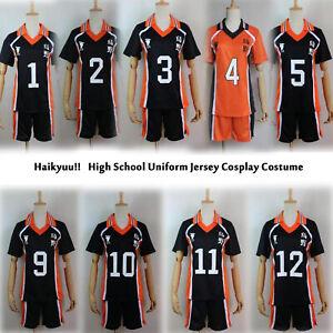 Haikyuu!! Karasuno Shyouyou High School Uniform Jersey Cosplay Costume M-XXL