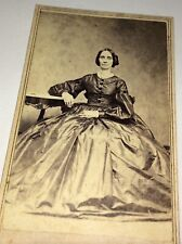 Rare Antique Victorian American ID'd Mrs.Laban Barney Rhode Island CDV Photo! US