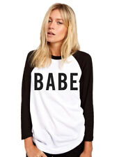 BABE - hipster 90s grunge fashion blogger Womens Baseball Top