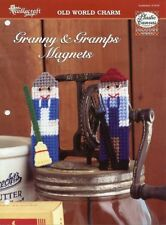 Granny & Gramps Grandma Grandpa Magnets TNS Plastic Canvas Pattern Leaflet