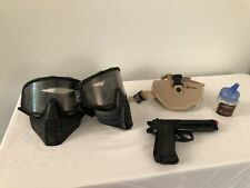 Spring Powered Airsoft Pisol, Masks, Holster and BBs