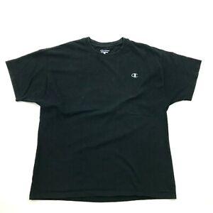Champion Shirt Men's Size Extra Large XL Black Short Sleeve Tee Logo Monogram