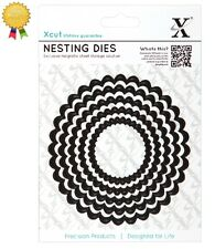 Xcut Metal Nesting Dies *SCALLOPED CIRCLES* 5 Piece DoCrafts Die Cutting Circle