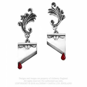 ALCHEMY ENGLAND Gothic Punk Swarovski Crystal DROPPER EARRINGS Marie Antoinette