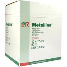 METALLINE Kompressen 10x12 cm steril 50 St PZN 1495713