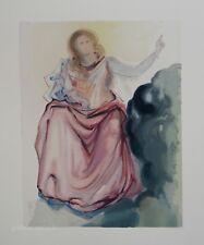 Estampe originale DALI : Béatrice, Divine comédie DANTE (Certificat)