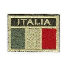 [Patch] BANDIERA ITALIA softair bassa visibilità cm 6,5 x 4,5 ricamo ITALY -443