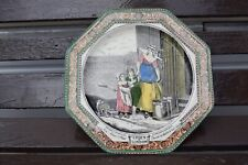 Cries of London by Adams 8.25 inch Octagonal Plate. Good Condition.