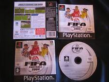 JEU Sony PLAYSTATION PS1 PS2 FIFA FOOTBALL 2004 (EA Sports COMPLET envoi suivi)
