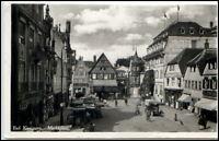 1937 Stempel BAD KISSINGEN a/ AK Marktplatz Markt Persone LKW Gebäude Häuser