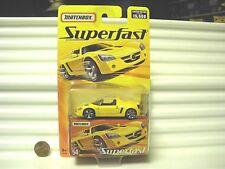 Matchbox 2005 Superfast Metallic Yellow #54 OPEL SPEEDSTER Car New Mint Boxed