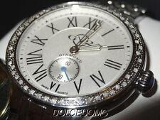 NEW $2995 GEVRIL GV2 9100 ASTOR 50 GENUINE DIAMOND BEZEL STEEL WATCH DEPLOYENT