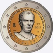 PIECES 2 EURO ITALIE 2017 TITO LIVIO