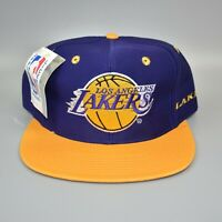 Los Angeles Lakers AJD Spell Out NBA Vintage 90's Snapback Cap Hat - NWT