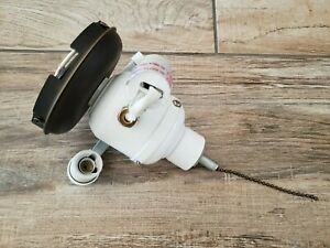 Harbor Breeze Ceiling Fan part - white brown 3 bulb light kit electrical fixture