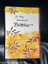 """Blue Mountain Arts Thankful Greeting Card """"To My Wonderful Brother"""" SALE B2GO"""