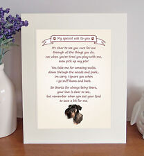 "Giant Schnauzer 10"" x 8"" Free Standing Thank You Poem Novelty Gift FROM THE DOG"
