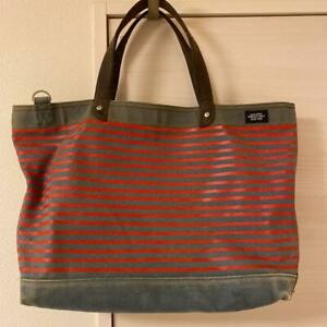 JACK SPADE Canvas Tote Bag Fast Free Shipping from Japan With Tracking . (K2889)