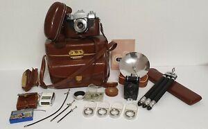 Zeiss Ikon Contaflex II, komplette Fotoausrüstung